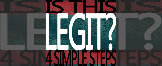 How To Determine If An Online Offer Is Legit - 4 Simple Steps - Feature Photo